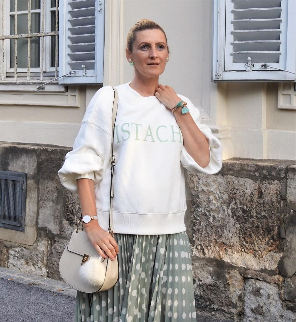 Frozen-Ice-Pistazie-Pistachio-Eis-Polkadot-Skirt-Mint-Pastell-carrieslifestyle-Dandy-Look-Tamara-Prutsch-Fashionsocks-Calzedonia-Mango