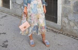 Maxidress-Floralprint-Sandals-Fur-Fakefur-Gucci-Bag-Denim-Jacket-carrieslifestyle-Tamara-Prutsch-Pink-Rose-Dior-Sunglasses
