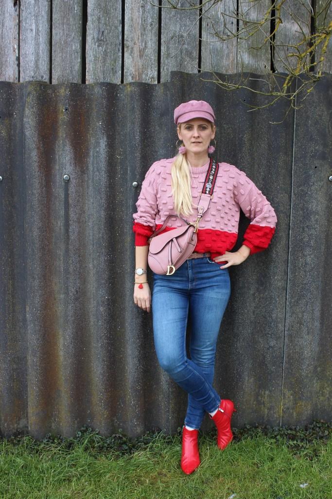 Colourblocking-Nakd-Sweater-Redboots-Dior-Saddle-Bag-carrieslifestyle-Tamara-PRutsch