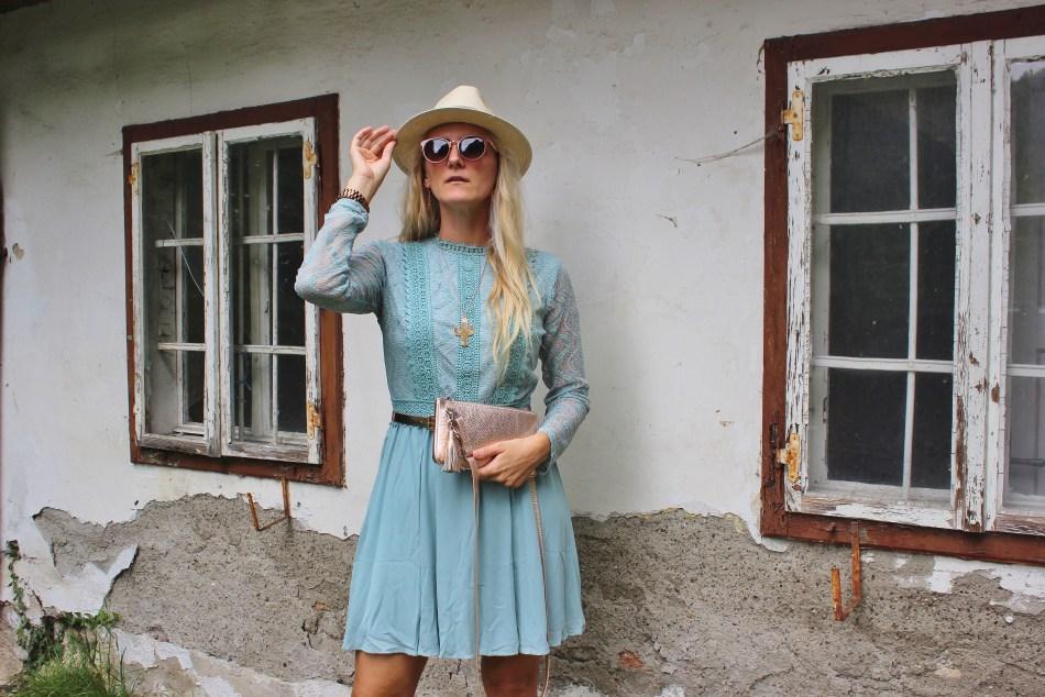 Nakd Fashion-Türkieses Sommerkleid-Minibag Rosegold-carrieslifestyle-Tamara Prutsch