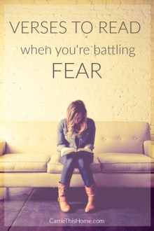 Verses to read when you're battling fear
