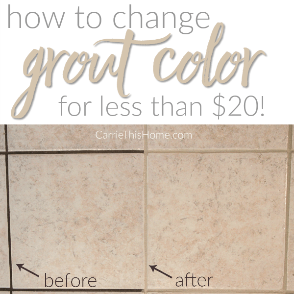 How To Change Grout Color For Less Than $20