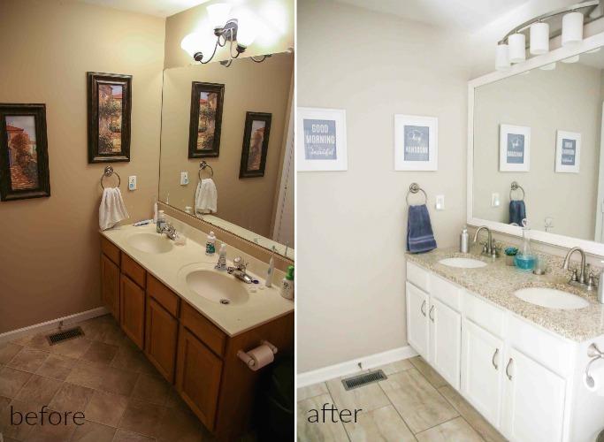 modern bathroom makeovers on a budget | Budget Modern Farmhouse Master Bathroom Makeover