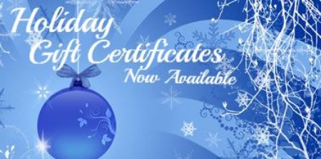 Holiday gift cert