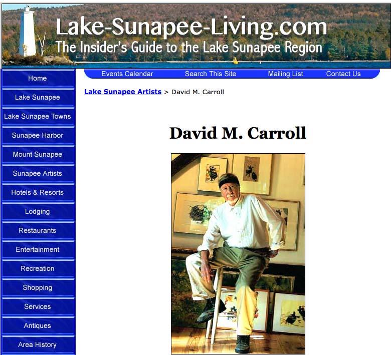 David M. Carroll's Artist Gallery on LakeSunapeeLiving.com