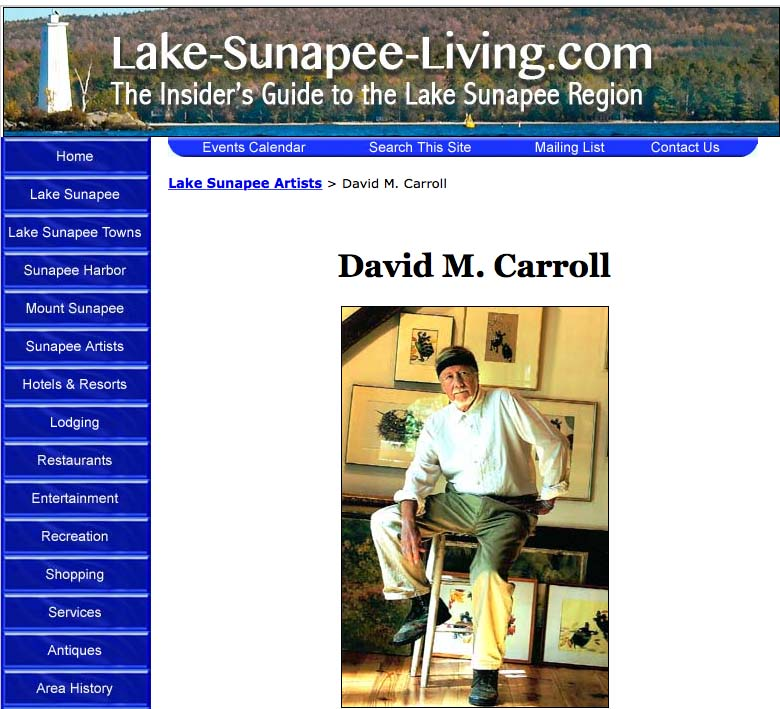 David M. Carroll's Artist Gallery on LakeSunapeeLiving.com