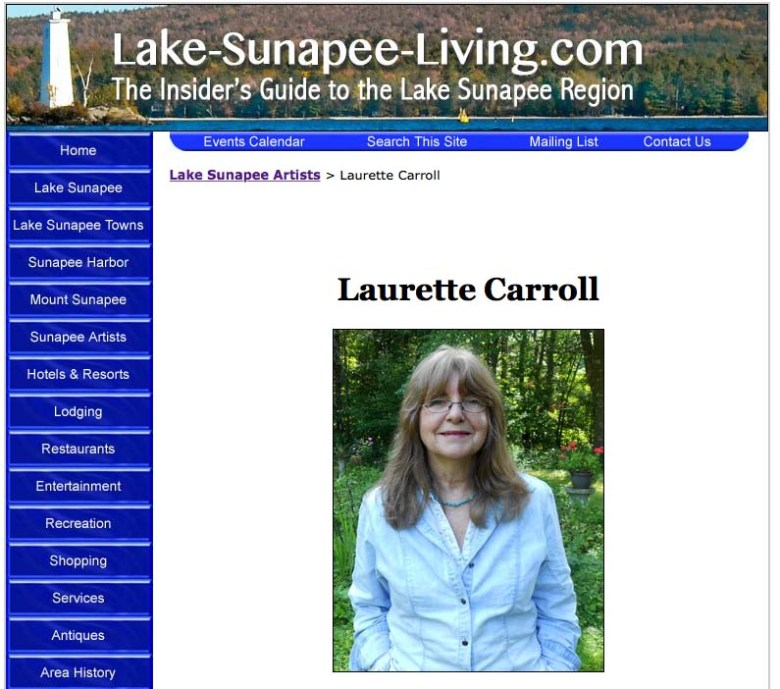 Laurette Carroll's Artist Gallery on LakeSunapeeLiving.com