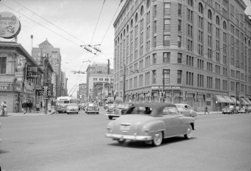 Brown Palace Hotel looking down 17th St. from Broadway __ Western History