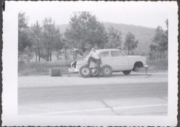 Vintage Car Photo Man w_ 1950 Ford Roadside Tire Repair 706248 | eBay