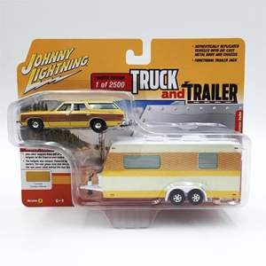 Caprice Wagon amarilla con remolque