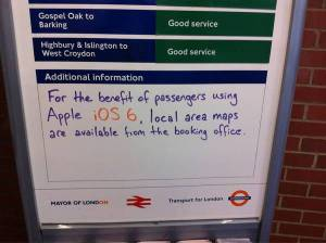 Transport for London notice board posted on social media