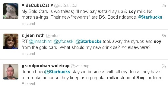 Social media reaction Starbucks