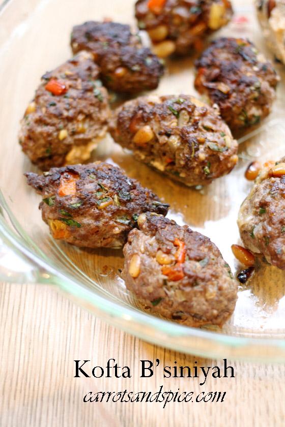 Kofta B Siniyah Middle Eastern Meatballs Carrots And Spice