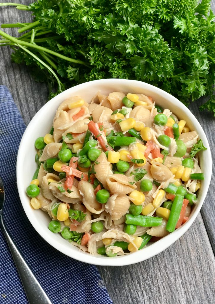High Protein Instant Pot Chicken Pasta