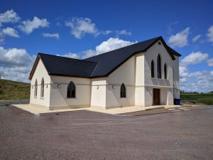 Opening date of new church building