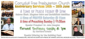 Invitation to our Anniversary Services