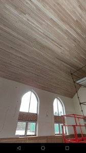 Ceiling installed