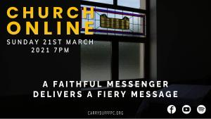A faithful messenger delivers a fiery message