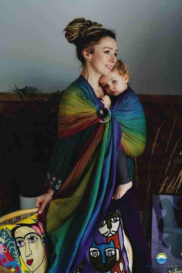 Little Frog Inky Agate Ring Sling