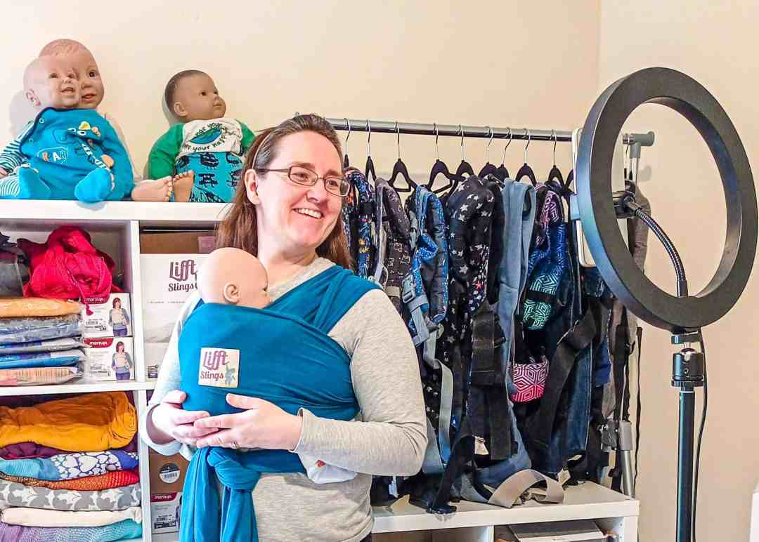 Ruth Grint babywearing consultant, online sling, wrap and carrier advice