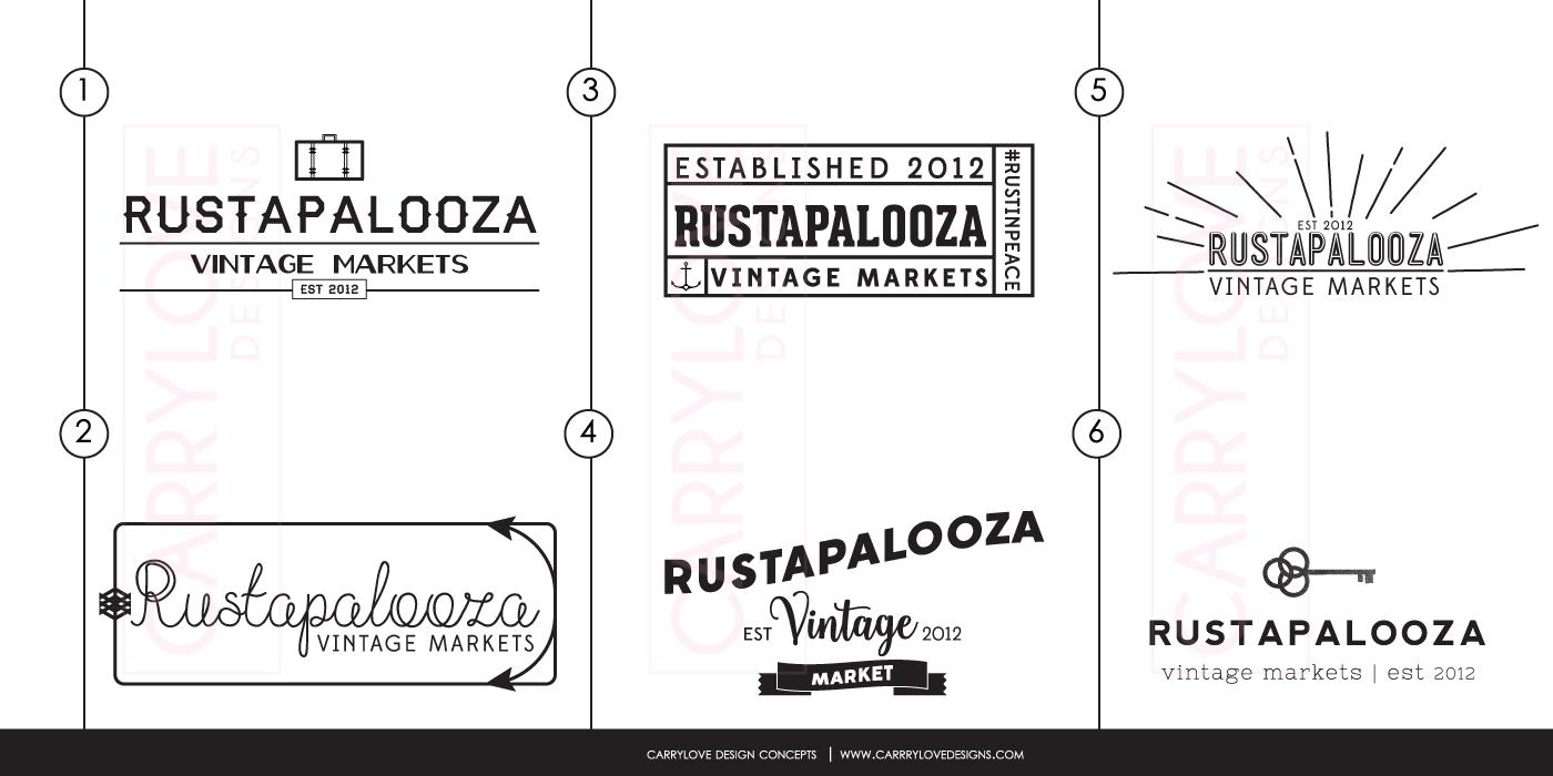Rustapalooza Initial Logo Concepts