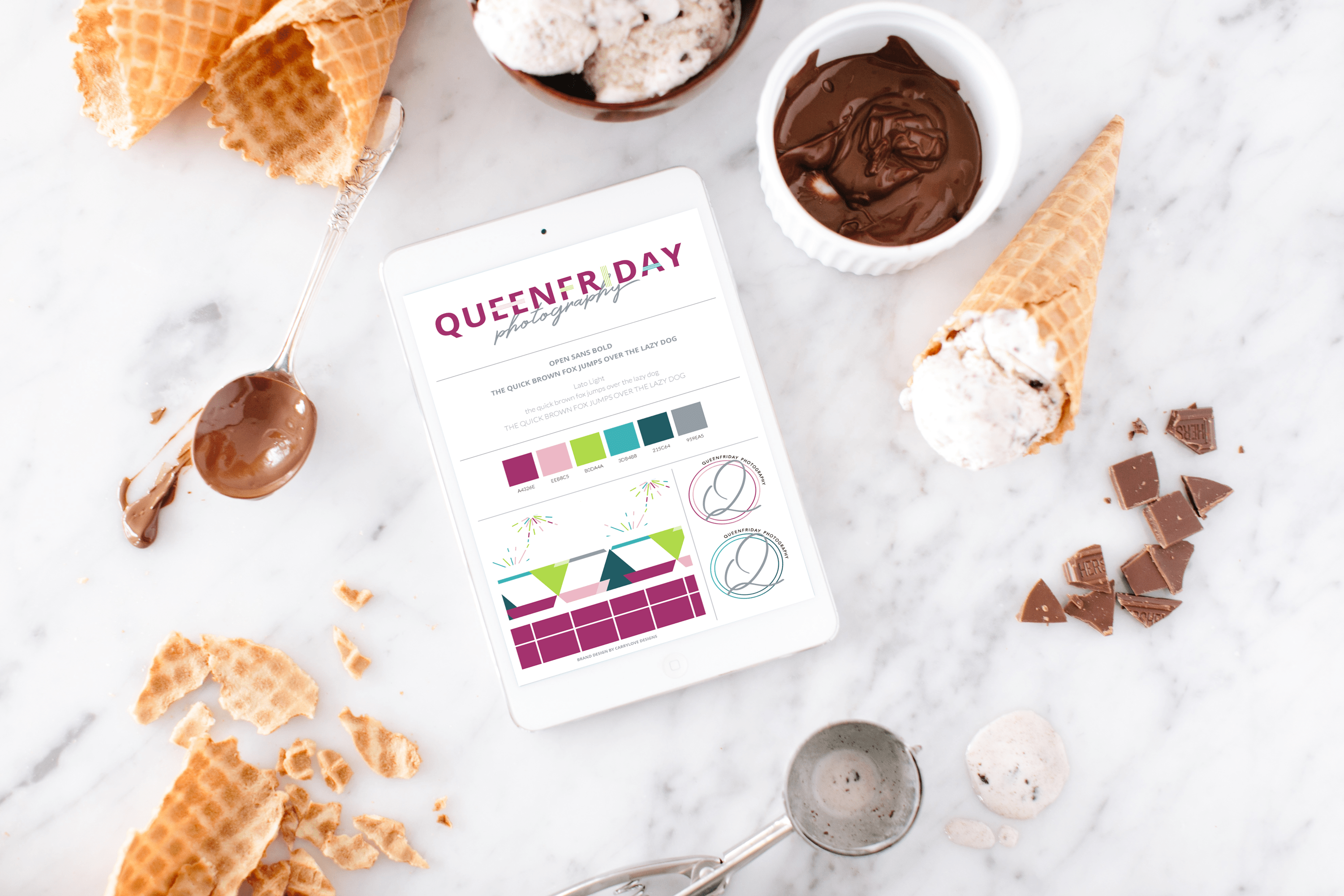 Colorful Brand Design and Showit Website Design for Queenfriday Photography