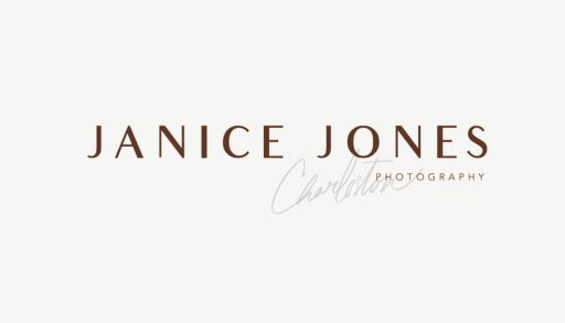 Clean and classic branding for Janice Jones Photography in Charleston, SC