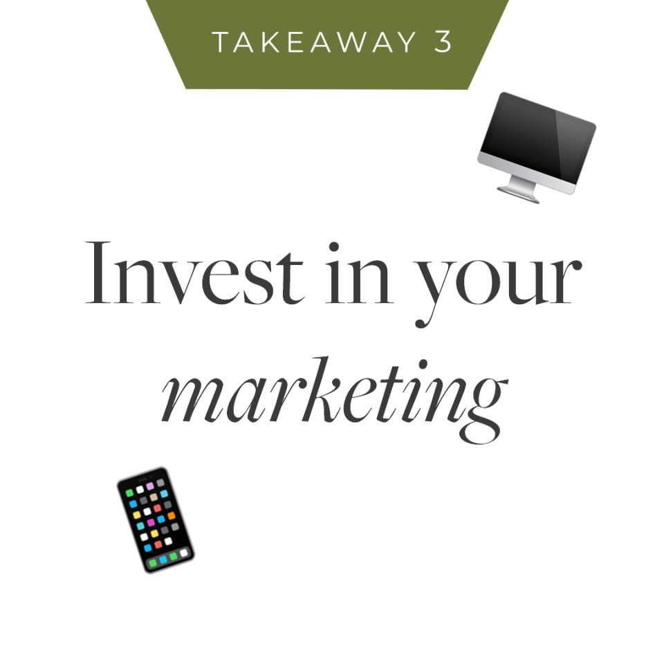 To grow as a wedding professional, you must invest money in your marketing to reach new clients.