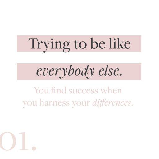 Creative entrepreneur marketing mistake #1: Trying to be like everybody else.