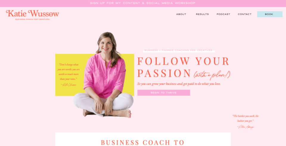 Brand strategy behind Katie Wussow the business coach to creatives
