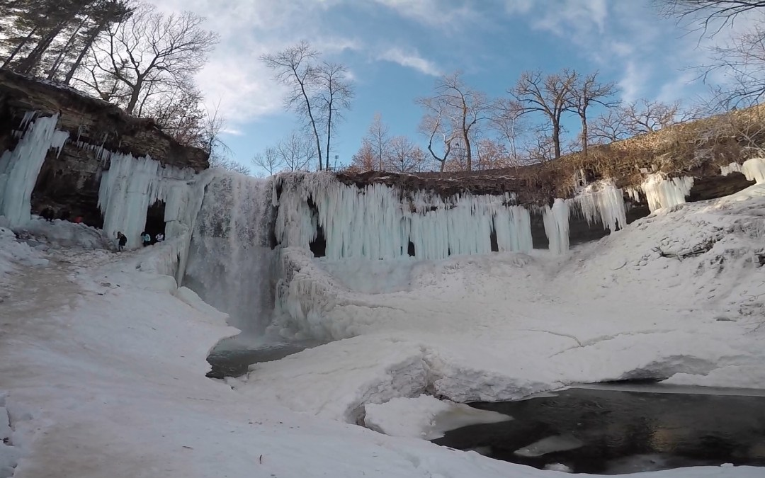 Minnehaha Falls, A Frozen Winter Wonderland