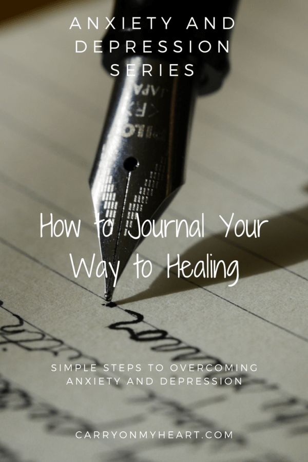 The Anxiety and Depression Series – (7 )How to Journal Your Way to Healing