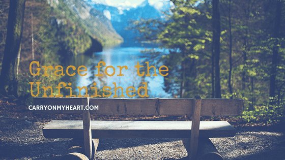 Do you feel like you can't get things finished and finalized? Always in the middle of things? Here are hope and help. It's grace for the unfinished.