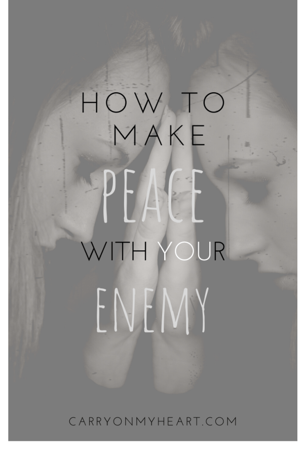 How to make peace with your enemy