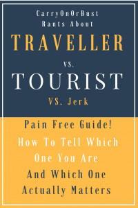 Traveller Vs Tourist Vs Jerk Pin