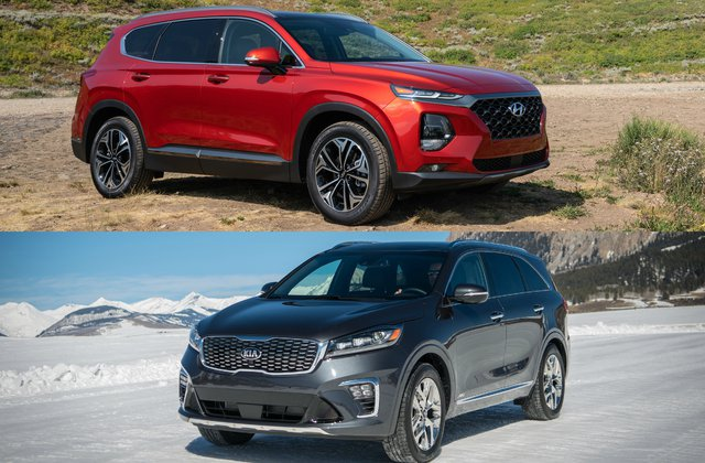 2019 Kia Sorento Vs 2019 Hyundai Santa Fe Head To Head U S News Amp World Report