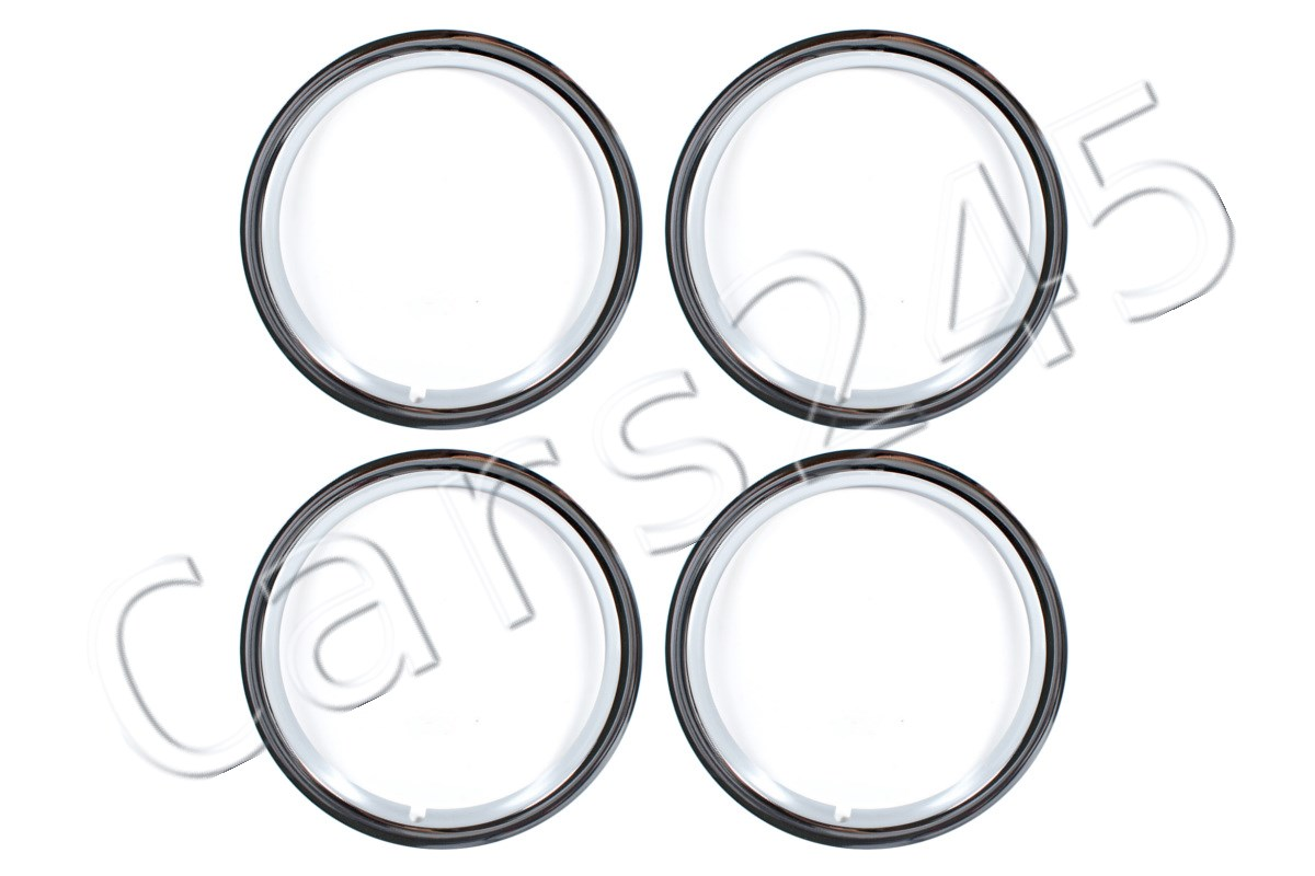 Genuine Wheel Trim Rings 4x Set Heritage Vw Beetle