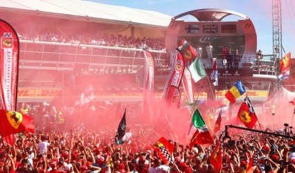 leclerc - leclerc crowd monza - Fairytale finish for Leclerc at Monza