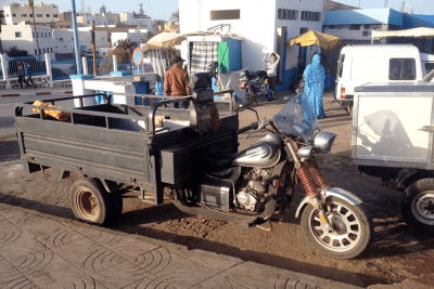Cargo tricycle Morocco Docker