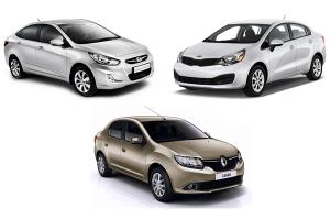 Hyundai_Solaris-Kia_Rio-Renault_Logan-Russia