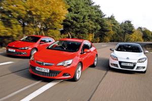 European-sales-coupe-segment-2015-Vauxhall_Astra_GTC-Renault_Megane_Coupe-VW_Scirocco