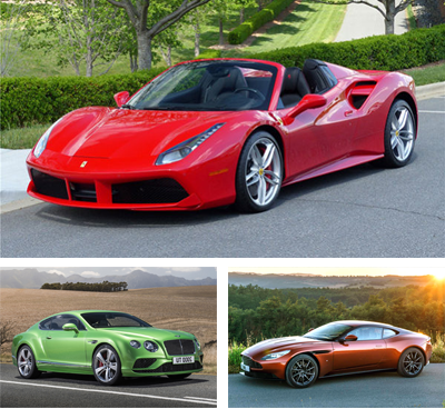 European sales 2017 Exotic and Sports Car segments - carsalesbase.com