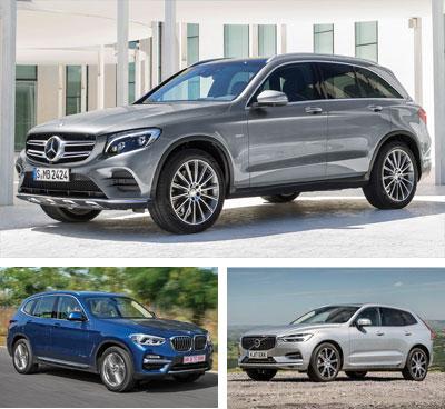 European Sales 2019 Q1 Premium Midsized And Compact Suv Segments