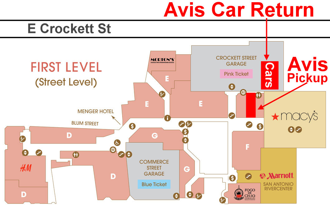 Avis Car Return San Antonio Downtown