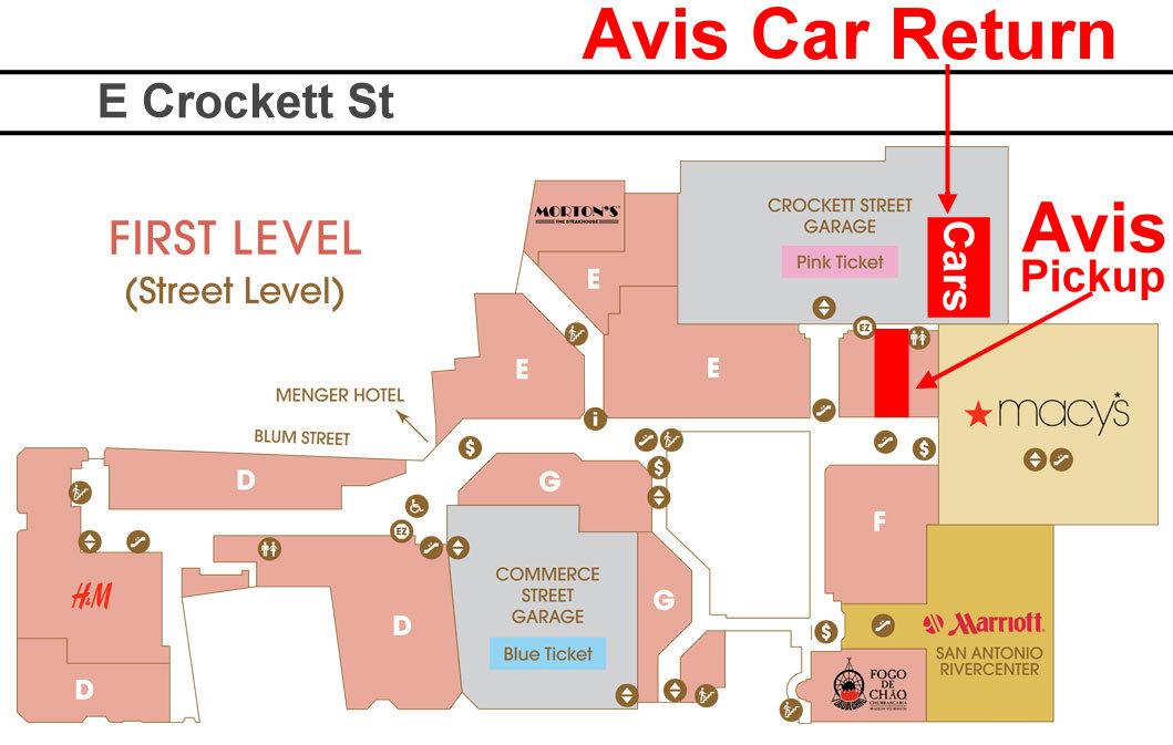 Avis Car Return San Antonio Downtown