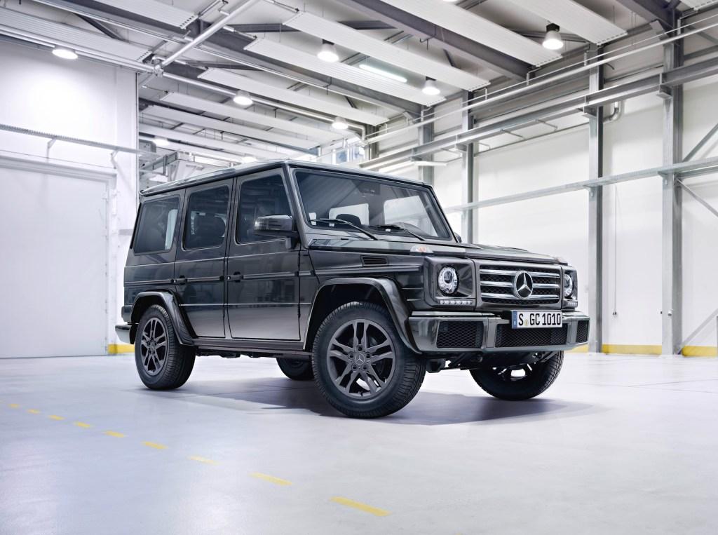Mercedes-Benz G-Class (BR 463) 2015; G 350 d Exterieur: tenoritgrau metallic exterior: tenorite grey metallic