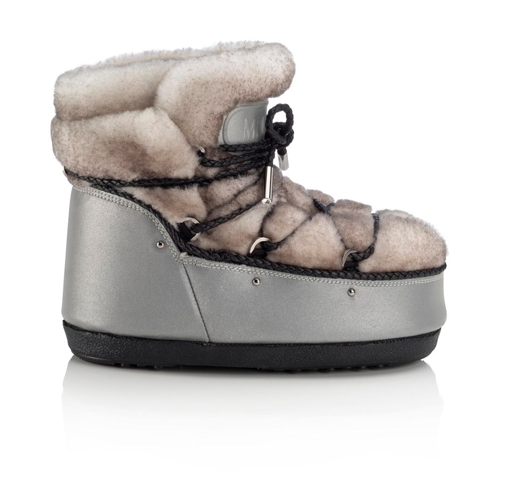 Jimmy Choo MB BUZZ- REFLEX FABRIC SHEARLING-SILVER WHITE (2)