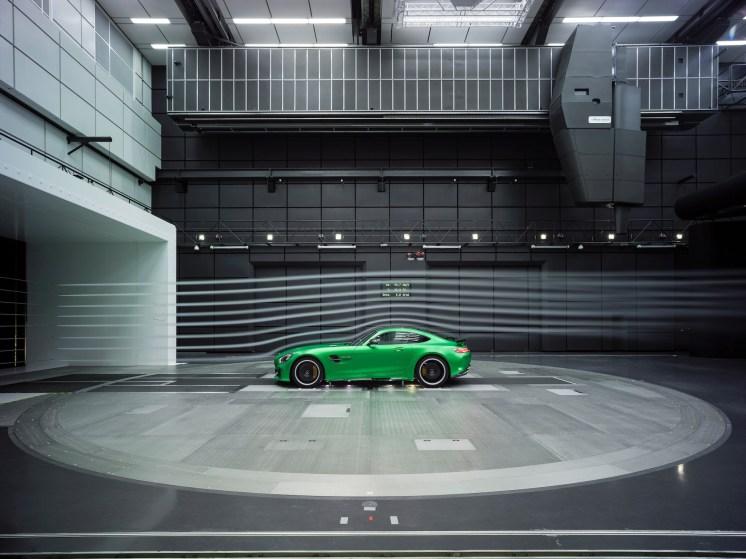 AMG GT R im Windkanal; 2016 ; AMG GT R in the wind tunnel; 2016;