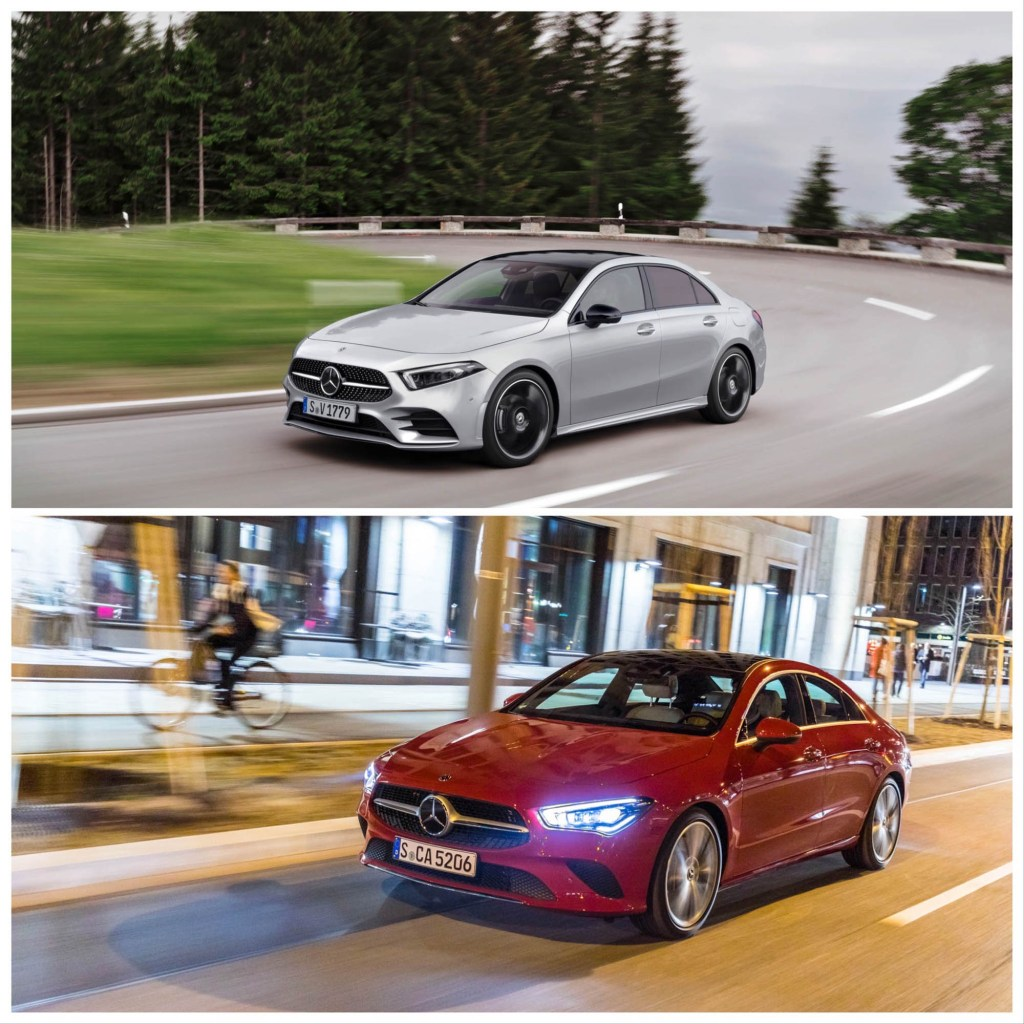 Mercedes CLA vs A-Class Sedan