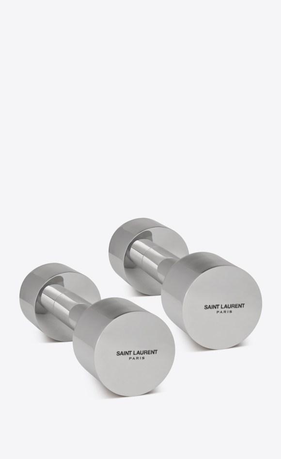 YSL Silver Dumbbells